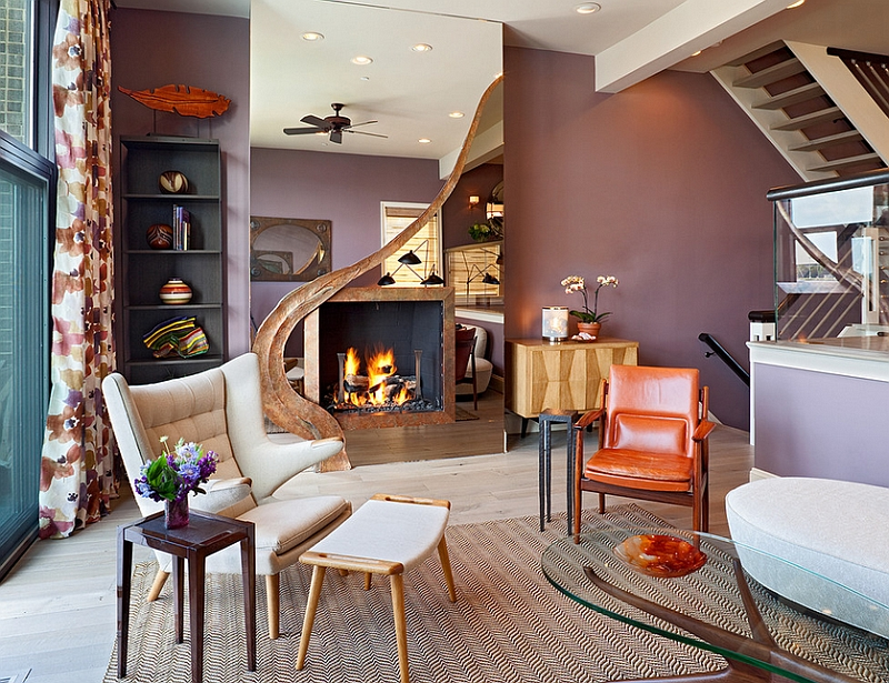 Stunning fireplace steals the show in this lovely living room