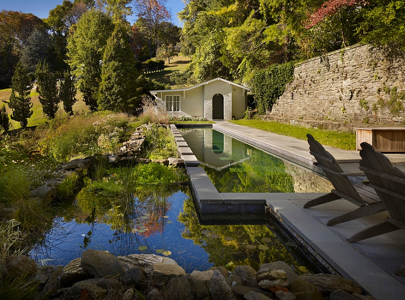 Stunning natural pool complements the idyllic landscape around it perfectly