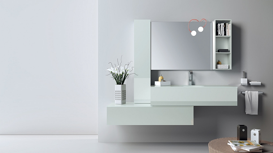 Stylish bathroom in Matt glass and Absolute White