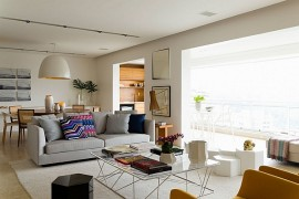 Posh Apartment In Brazil Captivates With Smart Accents Of Yellow And Green