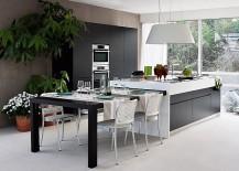Dynamic Modern Kitchen Balances Modularity With Chic Formal Elegance