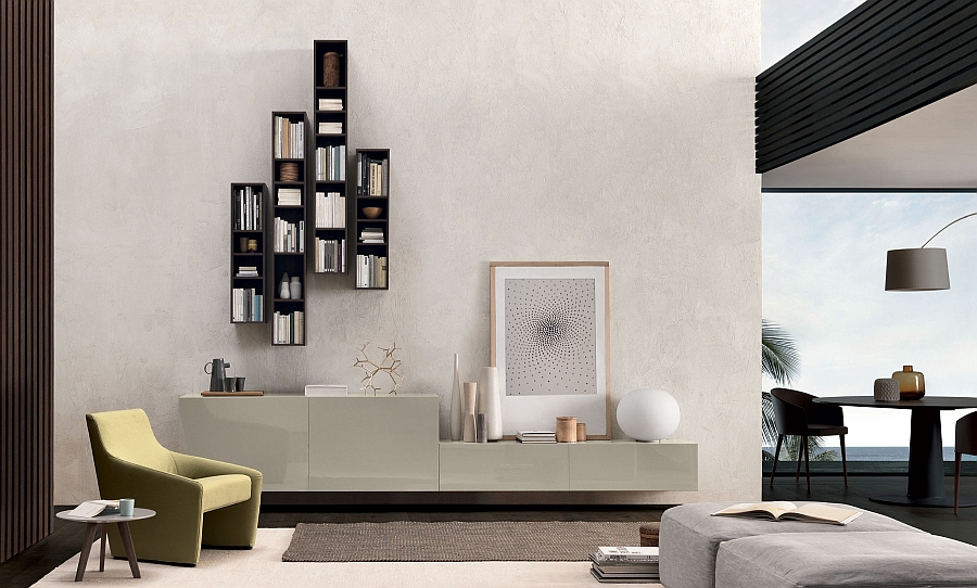 Stylish wall unit for the trendy modern home