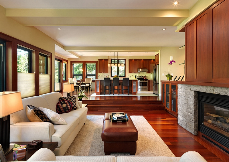 View In Gallery Sunken Living Room Helps Demarcate Spaces An Open Floor Plan