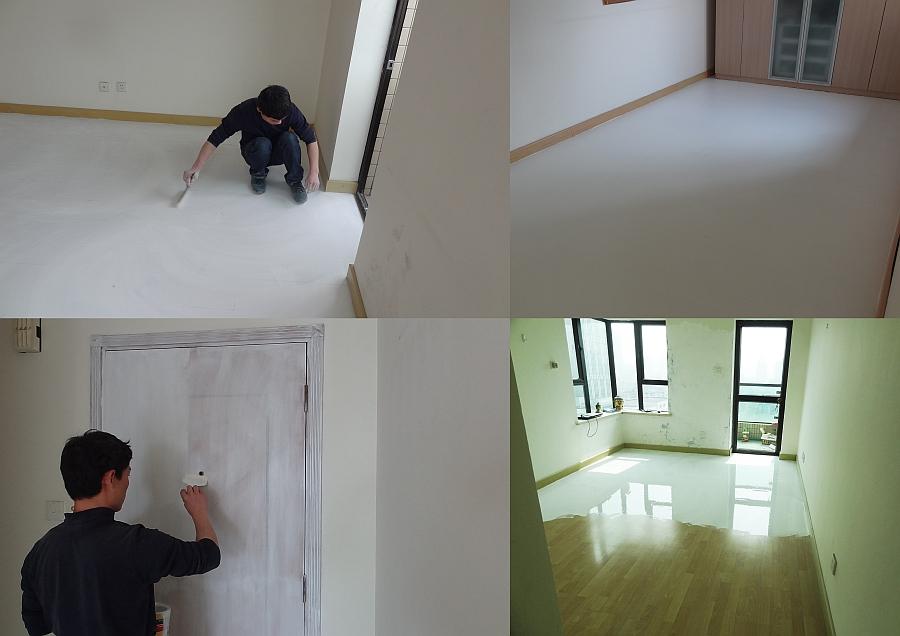 Team of Enrico Taranta overlook the renovation work of the apartment