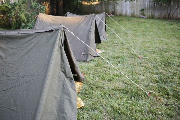 Tents at an outdoor party