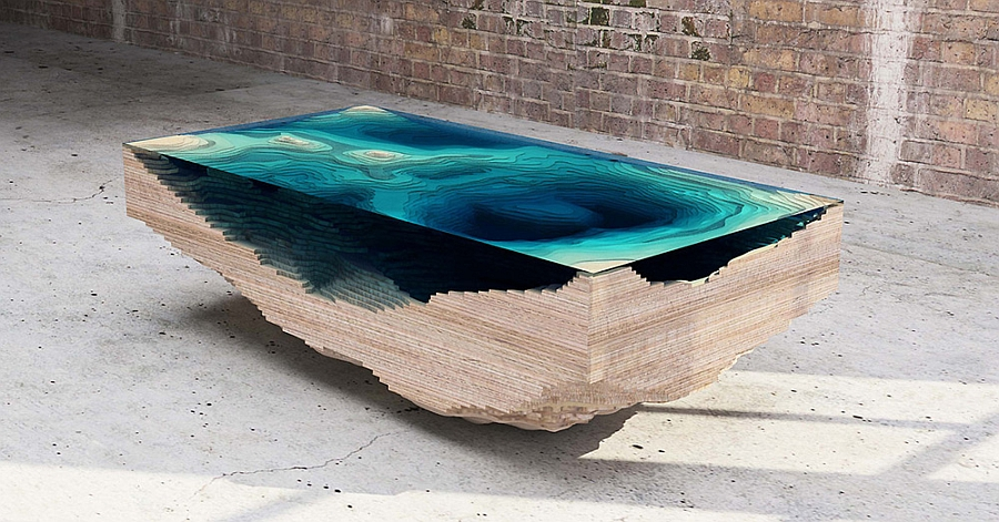 The Abyss Table by Christopher Duff of Duffy London Mesmerizing Limited Edition Abyss Table Promises To Bring The Ocean Indoors!