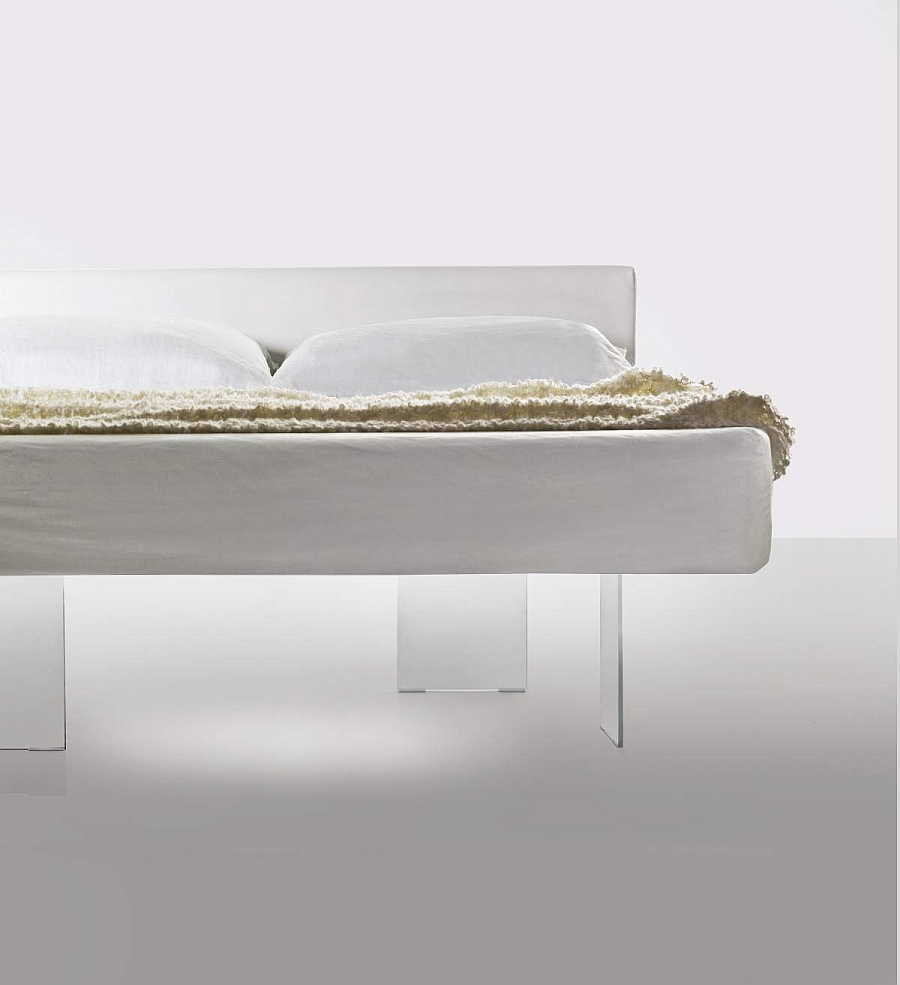 The transparent glass base of the iconic Air bed