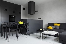 Small Black And White Apartment In Poland Exudes Refined Minimalism