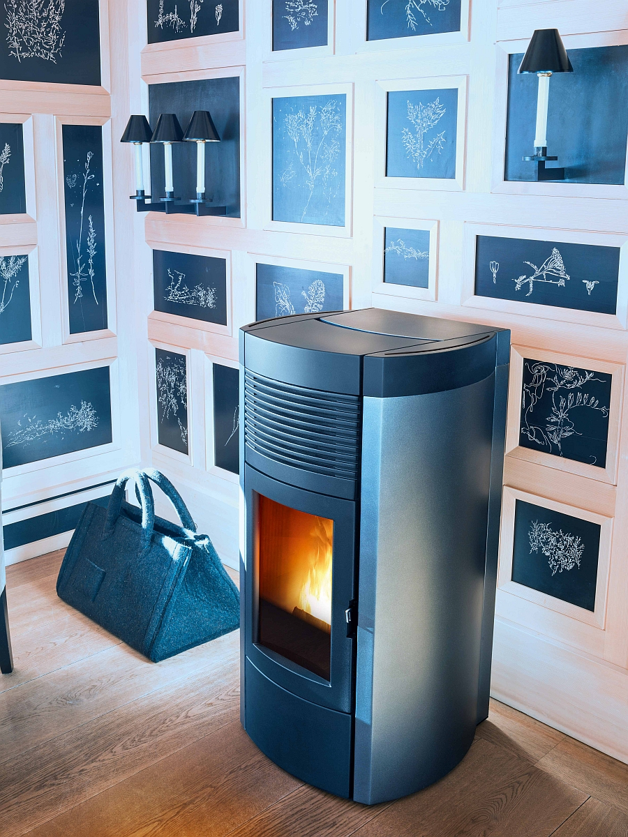 Trendy pellet-burning stoves warm up those cold winter days withe elegance