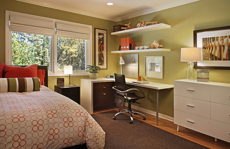 turn the bedroom corner into your home office decoist