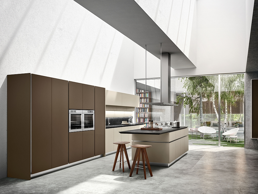 Understated and elegant form of the Idea Kitchen Iconic Italian Kitchen Reinvented With Sleek Simplicity And Rational Design
