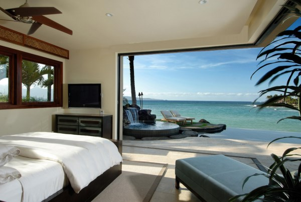 Understated tropical bedroom 10 Tranquil Rooms With An Ocean View