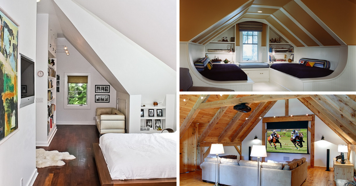 How To Decorate Rooms With Slanted Ceilings Or Walls