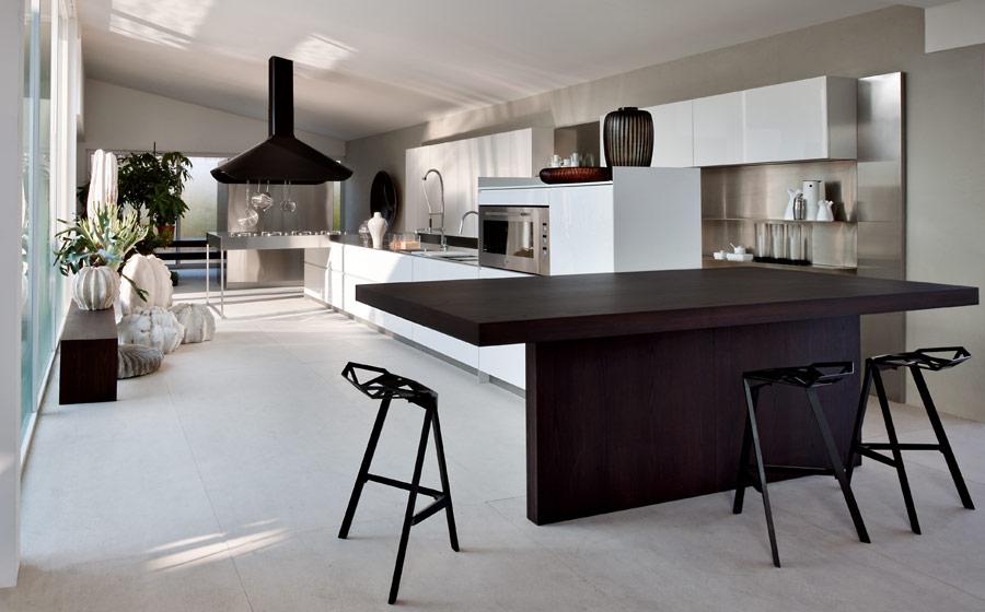 Contemporary Modular Kitchen Design Solutions - Contemporary kitchen with modular work island el_01 by elmar