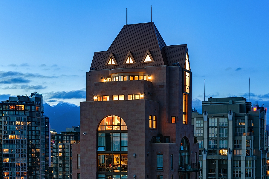 View of the exclusive Grace Penthouse Lavish Affluence And Amazing Views Shape Posh Vancouver Penthouse