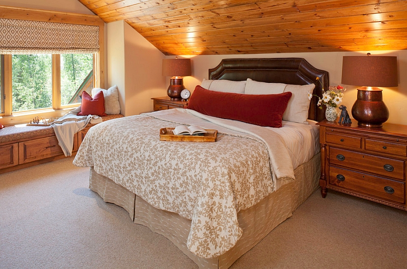 View In Gallery Wood Gives The Room A Sophisticated Cabin Look