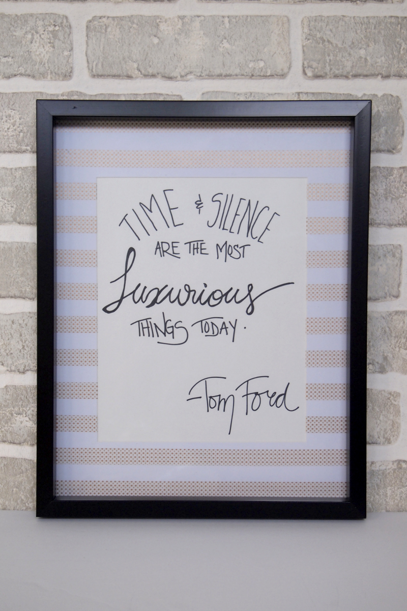 Add some inspirational quotes to your newly crafted frames!