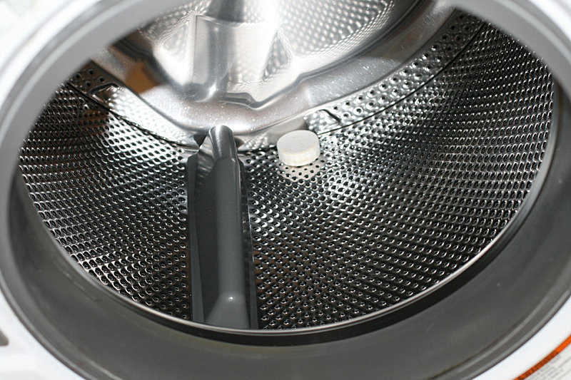 An Affresh tablet in a washing machine