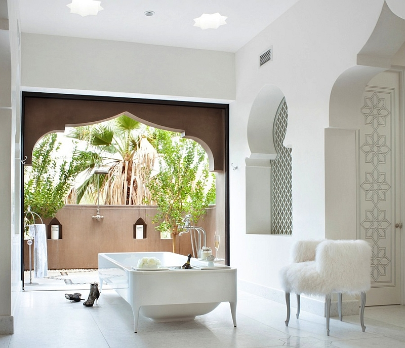 Moroccan architectural style combined with Contemporary style [Design: Gordon Stein Design]