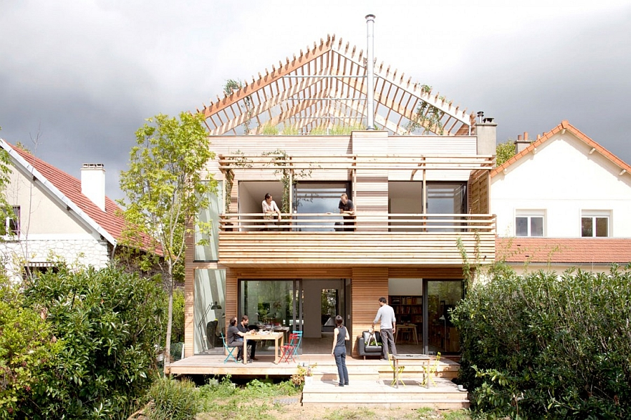 eco sustainable house in the suburbs of paris france smart eco