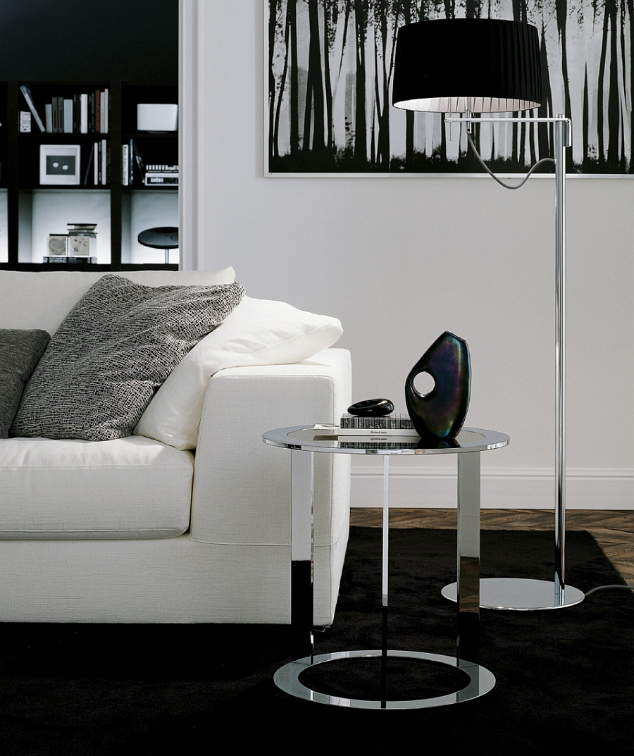 Beautiful side table from Jesse reminds us of the iconic Eileen Gray side table