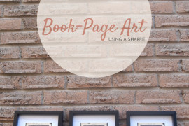 DIY: Turn Old Book Pages Into Artwork