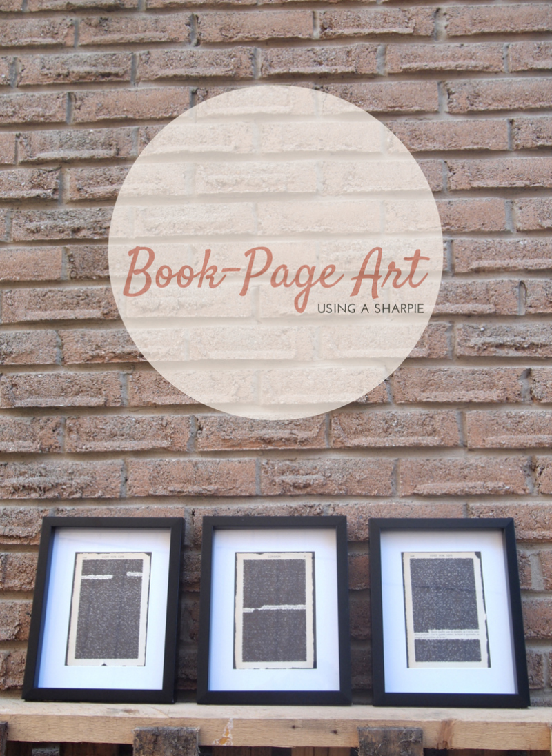 Book Page Art Using A Sharpie DIY: Turn Old Book Pages Into Artwork
