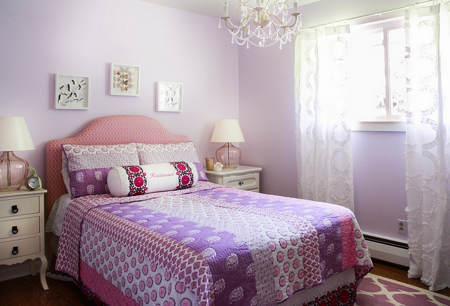 Casual, yet classy approach to designing a girl's bedroom [Design: Latitude 39 Designs]