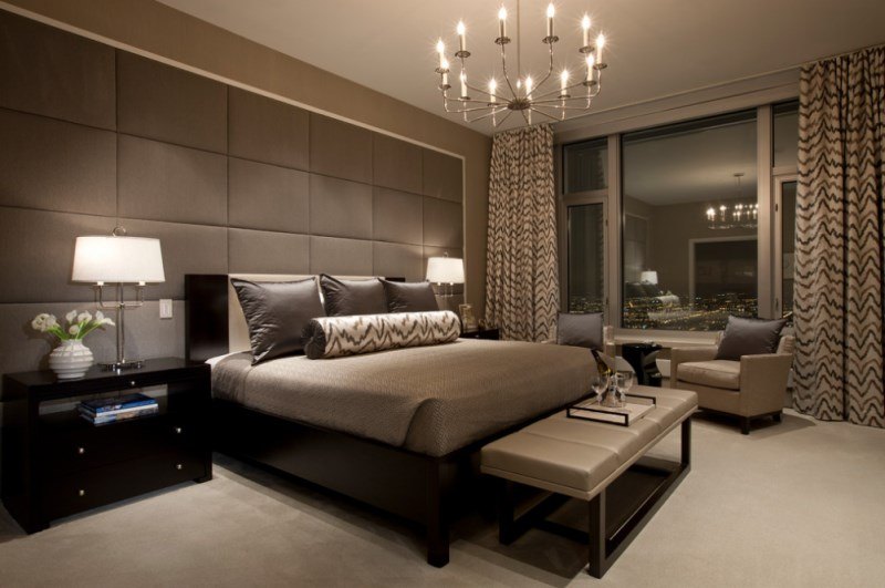 City bedroom with luxe details