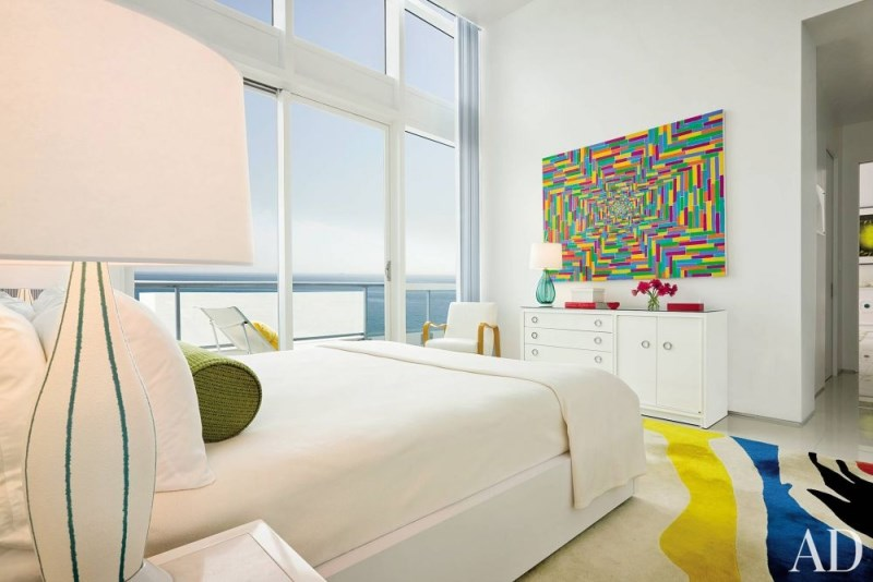 Colorful Miami Beach bedroom