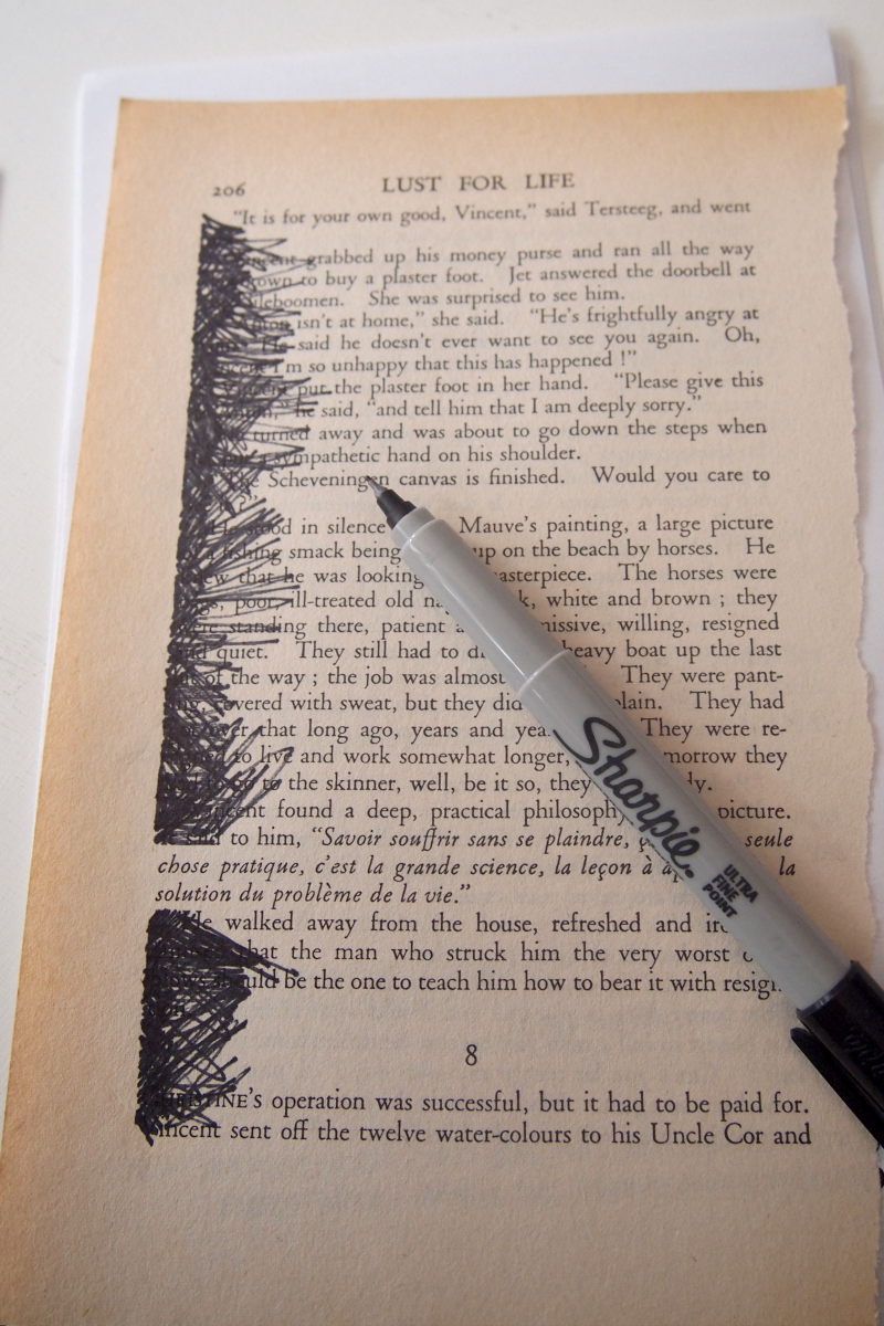 diy  turn old book pages into artwork