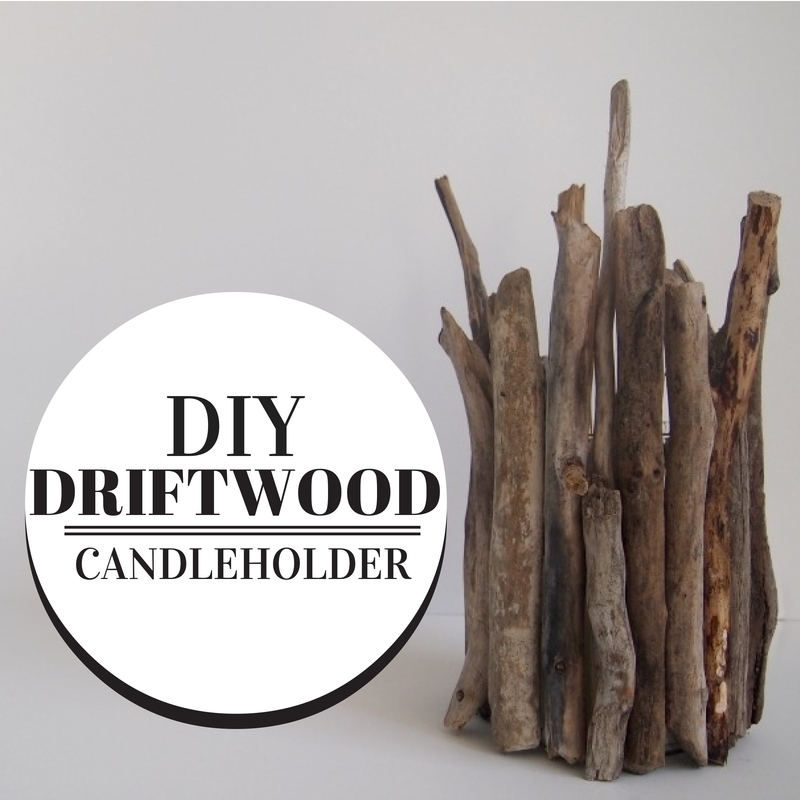DIY Driftwood Candleholder