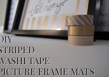 DIY Washi Tape Picture Frame Mats Add Sizzle To Your Home!