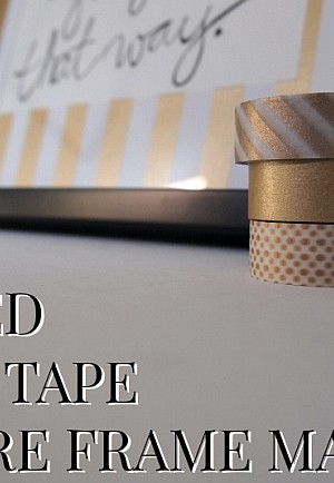 DIY Striped Wushi Tape Picture Frame Mats
