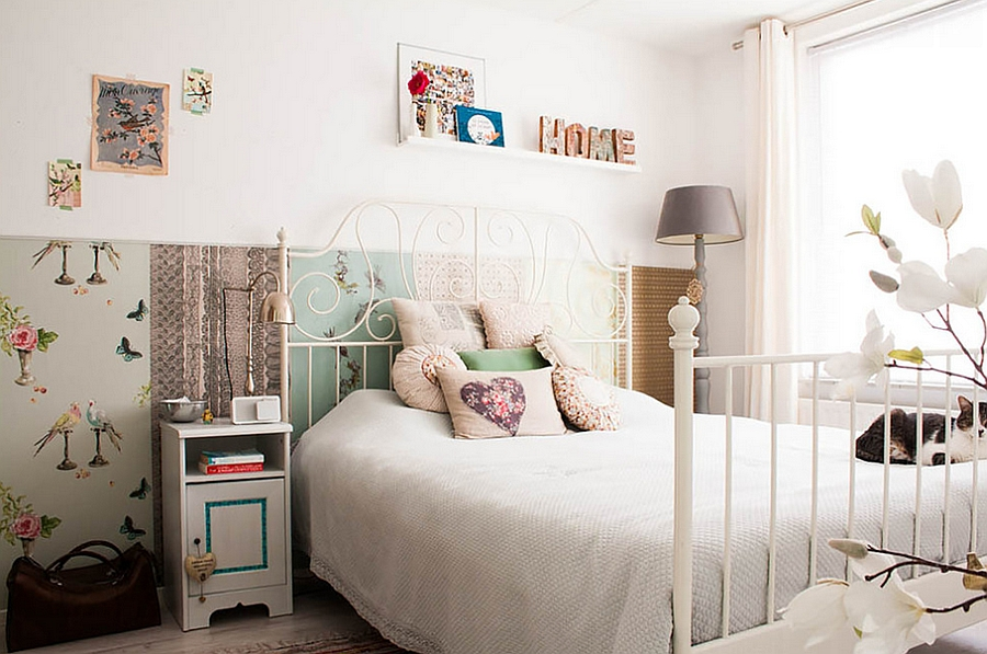 DIY and Flea market finds bring inimitable style to the bedroom [From Louise de Miranda]