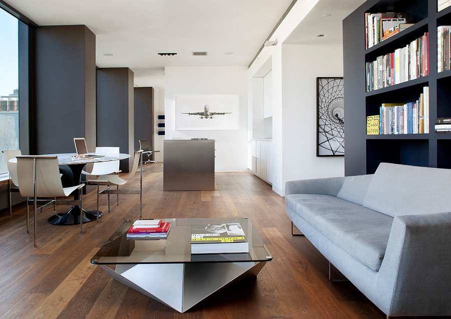 View In Gallery Decorating The Contemporary Home With Books In Style!  [Design: CCS Architecture]