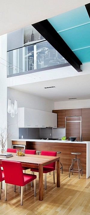 Dining and kitchen space of the Montreal House