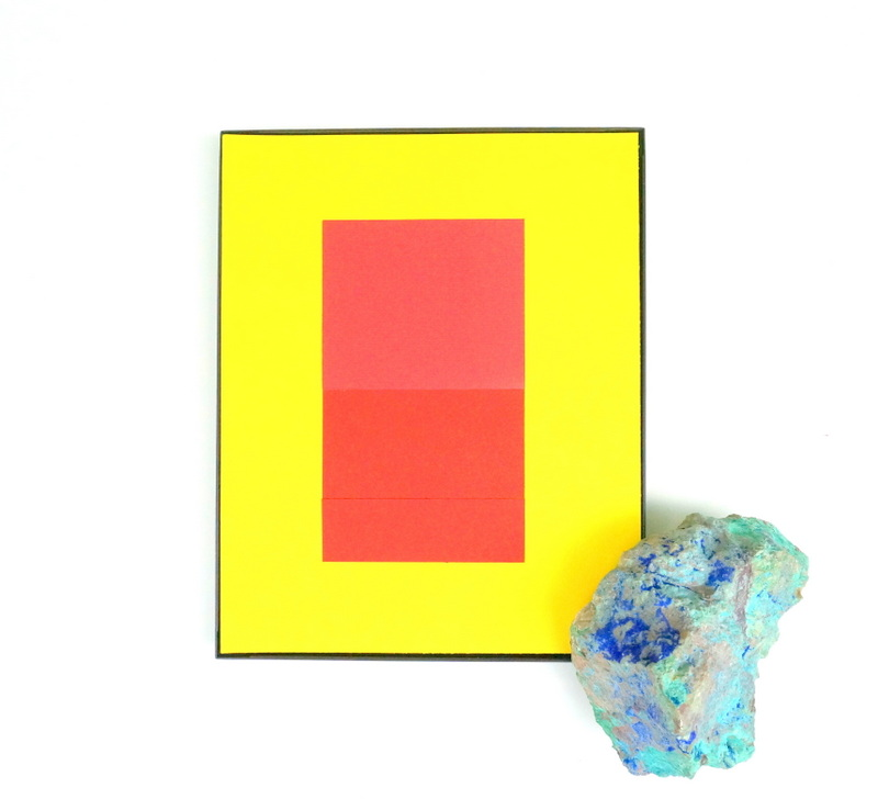 Easy red and yellow DIY geo art