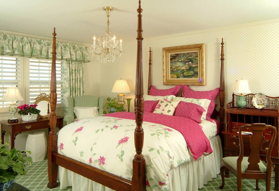 Elegant feminine bedroom has a classic and timeless appeal [By Becky Berg Design]