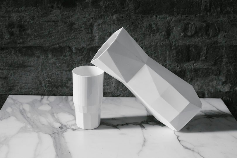 Faceted tumblers designed by Fort Standard