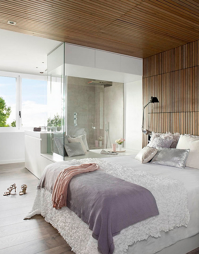 Fashionable contemporary bedroom exudes luxury [Design: Opad]