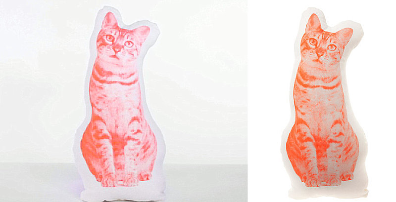 Fauna tabby cat cushion by Ross Menuez