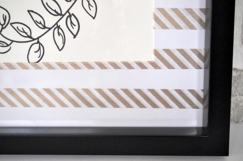 Finished Washi Tape Frame Mats