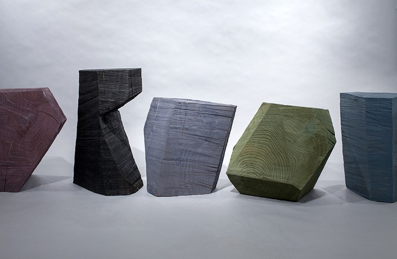 Fort Standard's Chainsaw Stools are crafted from fallen trees