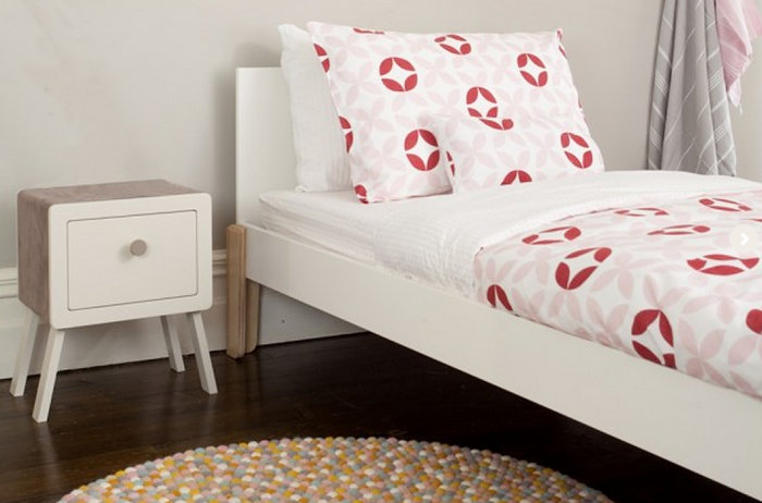 Geometric kids' bedding from Olli Ella