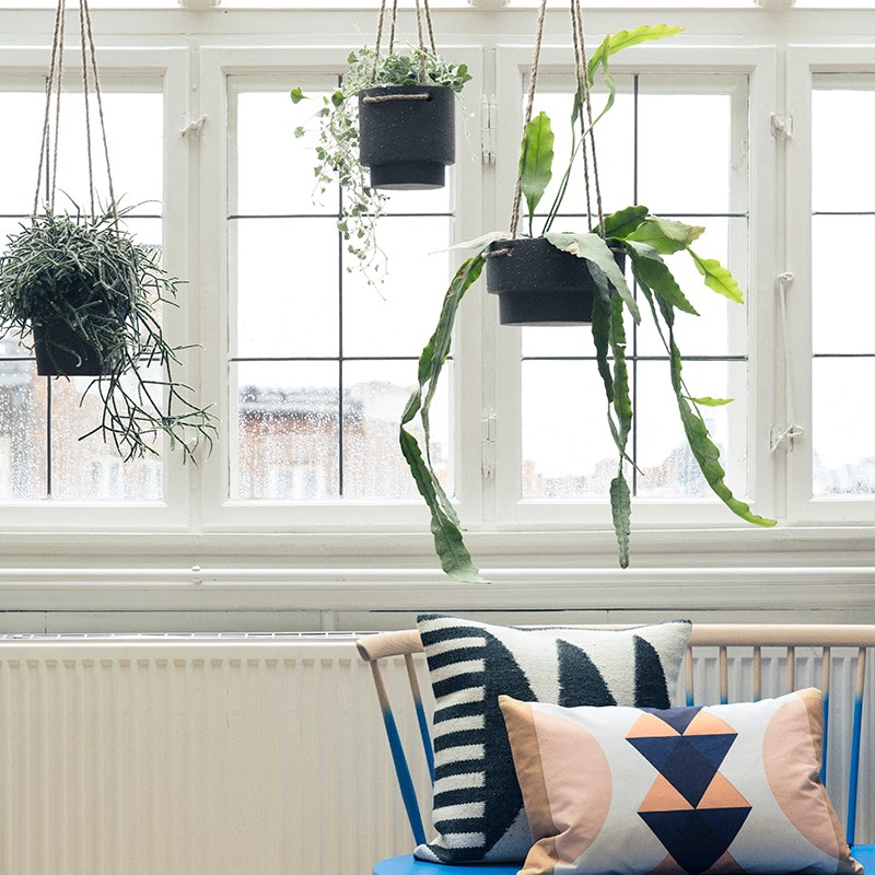 Geometric plant hangers from Ferm Living