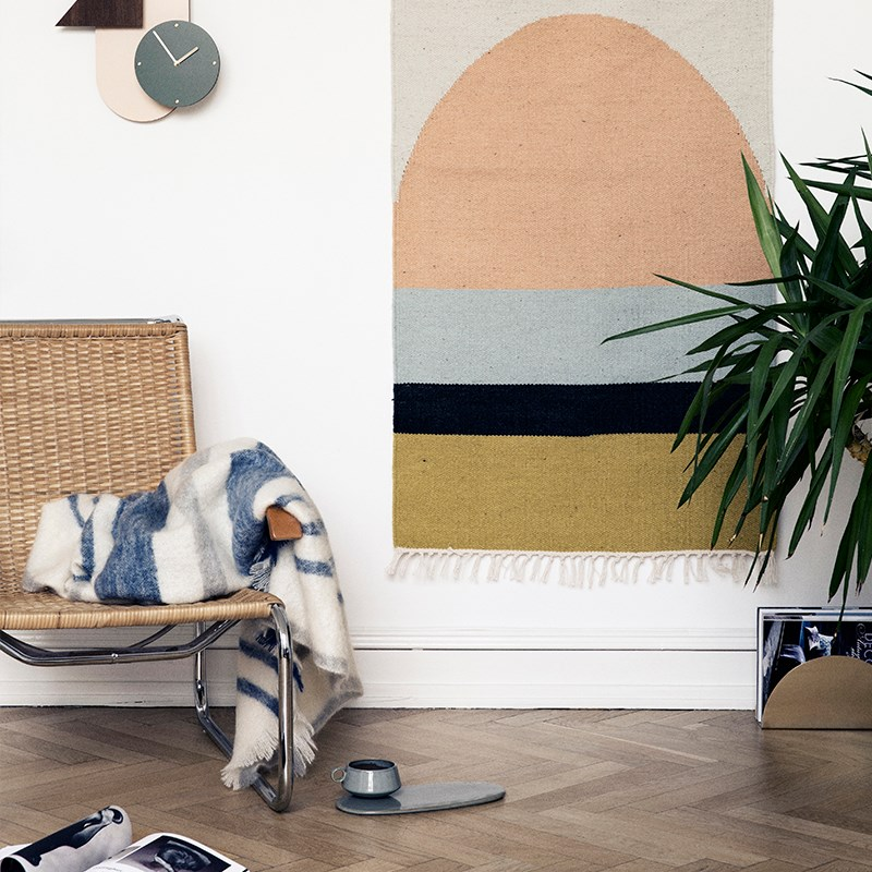 Geometric rug from Ferm Living