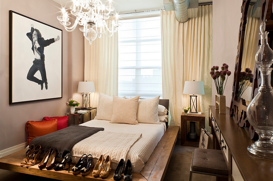 ... Give your feminine bedroom a modern bohemian style [Design: Elizabeth  Cb Marsh]