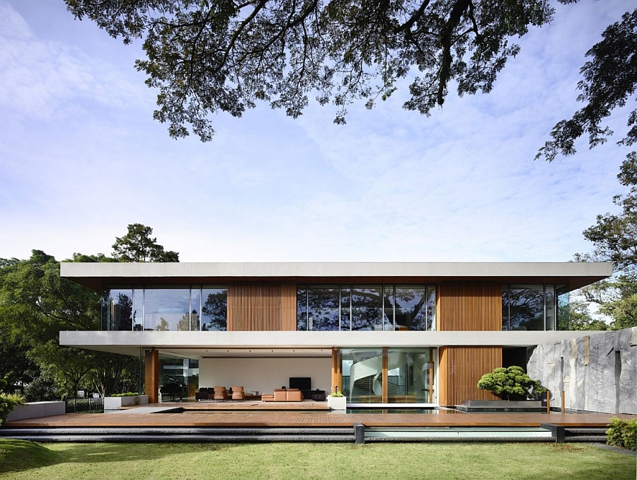 Gorgeous 65BTP House by ONGONG in Singapore Bright and Cheerful Private Residence In Singapore With Nature Inspired Design