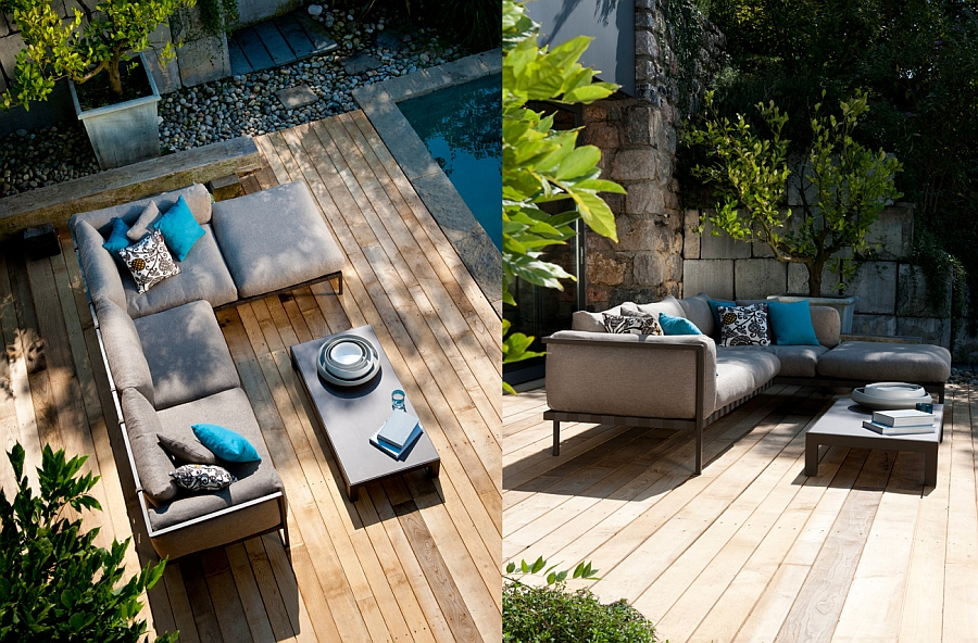 Gorgeous Natal Alu Sofa on the patio deck Exclusive Outdoor Decor Collection Promises Luxury Wrapped In Resilient Style